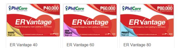 ER Vantage Prepaid Card Denominations
